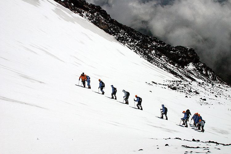 Esqui próximo ao Vulcão Villarrica