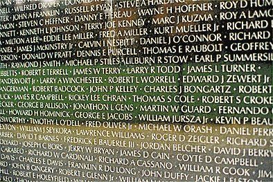 Muro do Vietnam Veterans Memorial