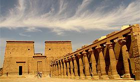 O templo de Philae, um dos mais belos do Egito