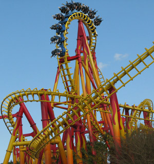 Montanha-russa invertida ser� inaugurada no anivers�rio do parque