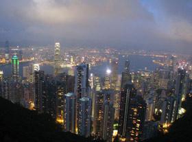 Hong Kong vista do pico Vit�ria: sob dom�nio brit�nico por quase 160 anos