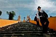 Escadaria da pir�mide de Cholula