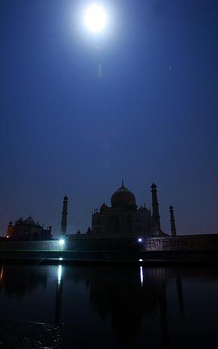 Taj Mahal à noite