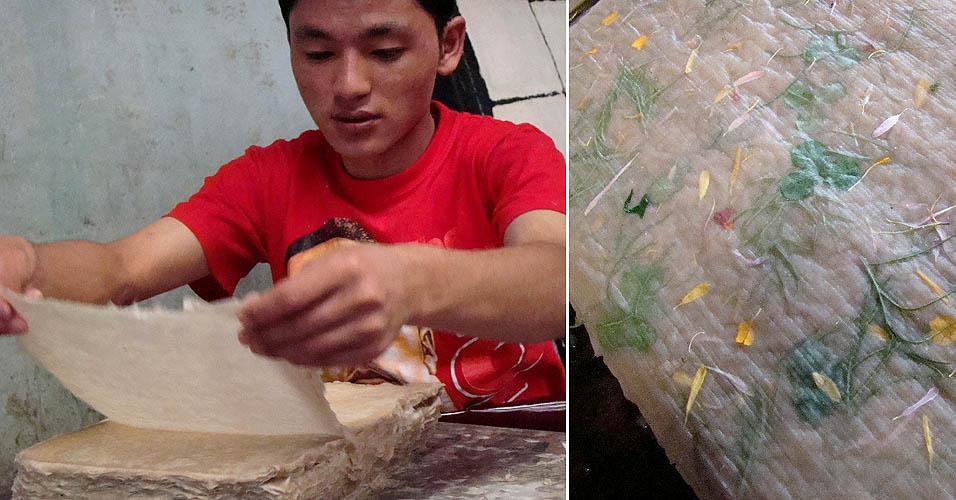 Fabricação artesanal de papel