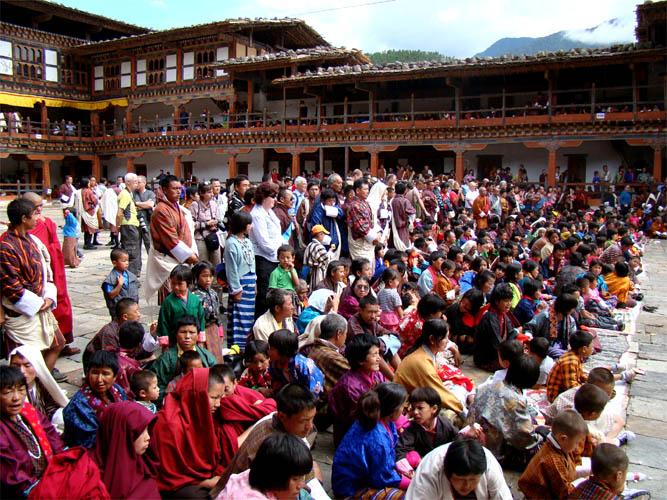 Festival em Wangdue