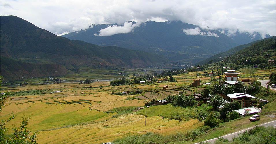 Vista de Punakha