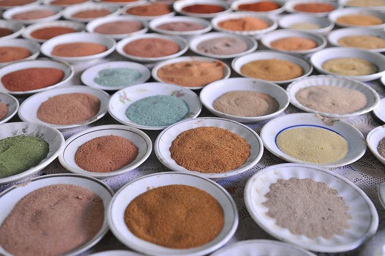 Areias coloridas