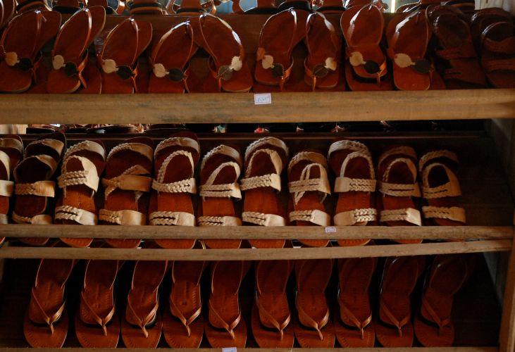 Sandálias de couro