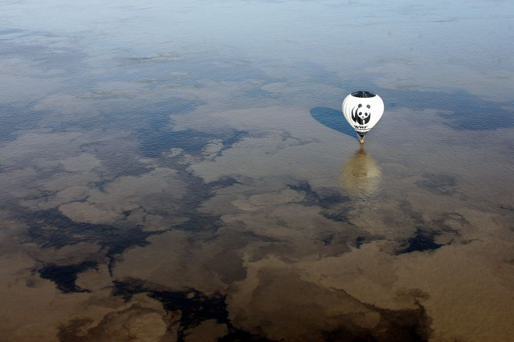 Vista aérea do rio Amazonas