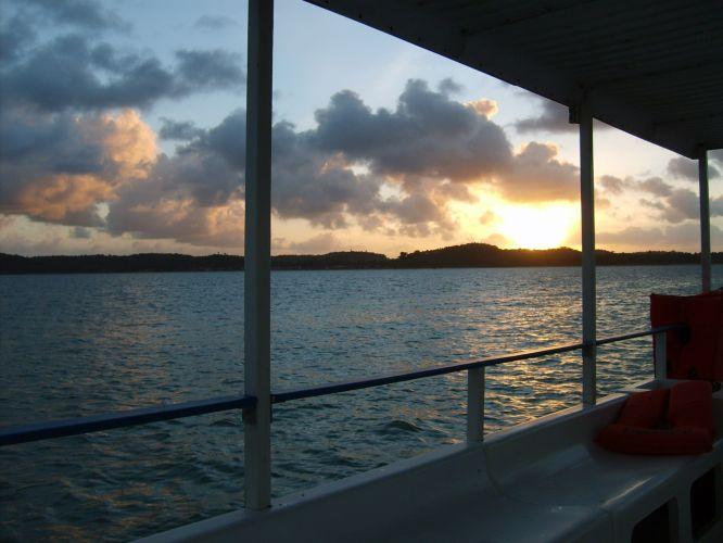 Pôr-do-sol em Japaratinga