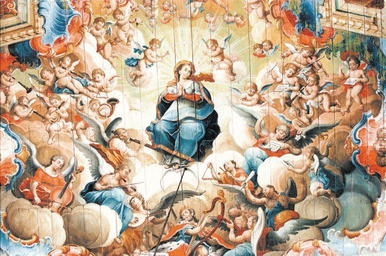 Forro da igreja de São Francisco de Assis