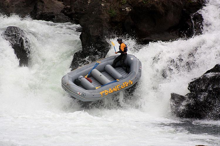 Rafting no Parque Saltos de Marimán