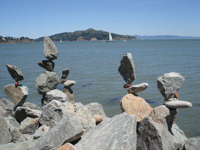 Esculturas de pedras em Sausalito
