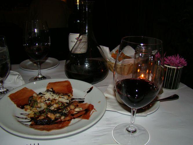 Jantar com vinho