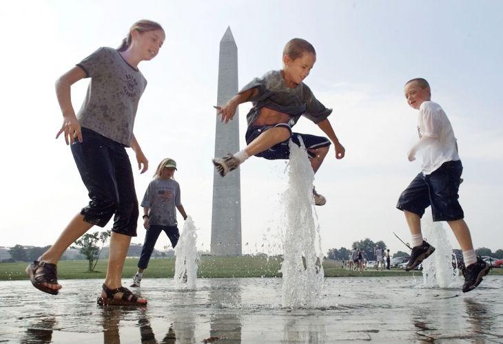 Fontes de água do Washington Monument