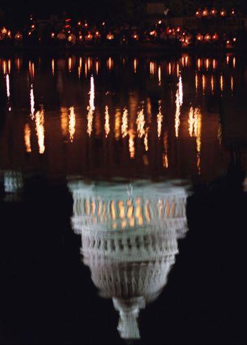 Imagem do Capitólio refletida