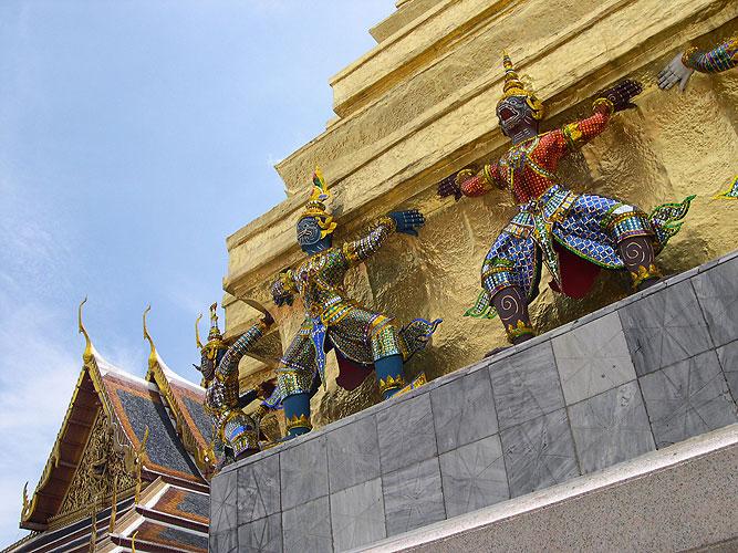 Grande Palácio e Wat Phra Kaew, Bancoc, Tailândia
