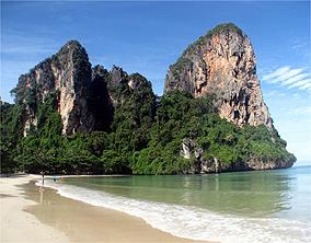 Península de Railay: três praias, onde cavernas são vizinhas do mar