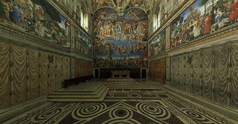Visita virtual a Capela Sistina, no Vaticano