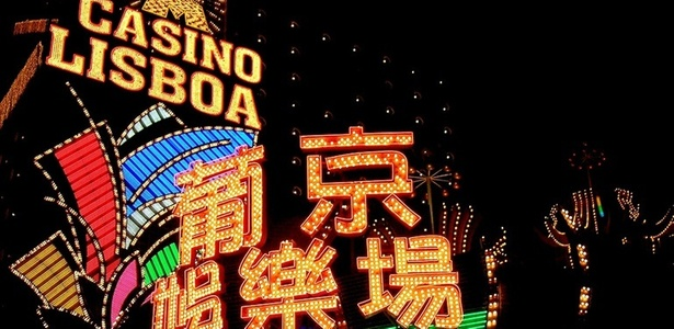Fachada de cassino em Macau, antiga colônia portuguesa, que hoje pertence à China