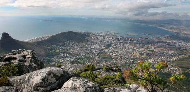 Montanha da Mesa, na Cidade do Cabo, África do Sul