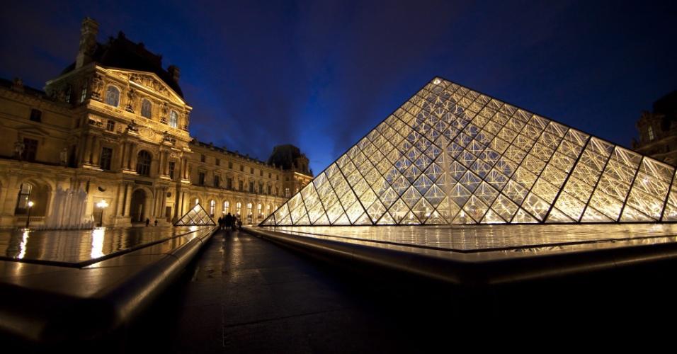 Museu do Louvre, em Paris, na França